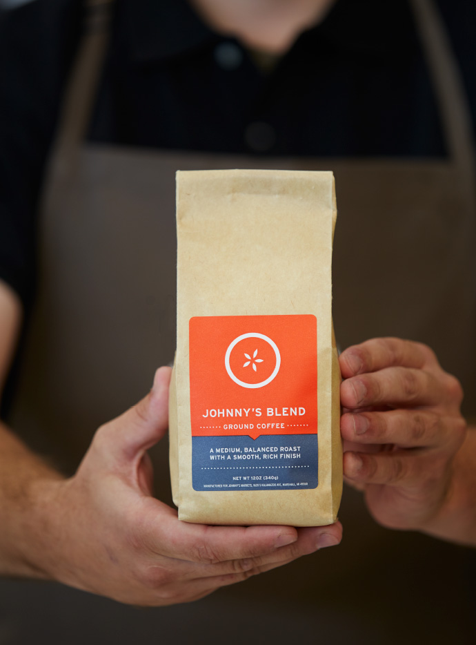Johnny's Blend Ground Coffee Packaging