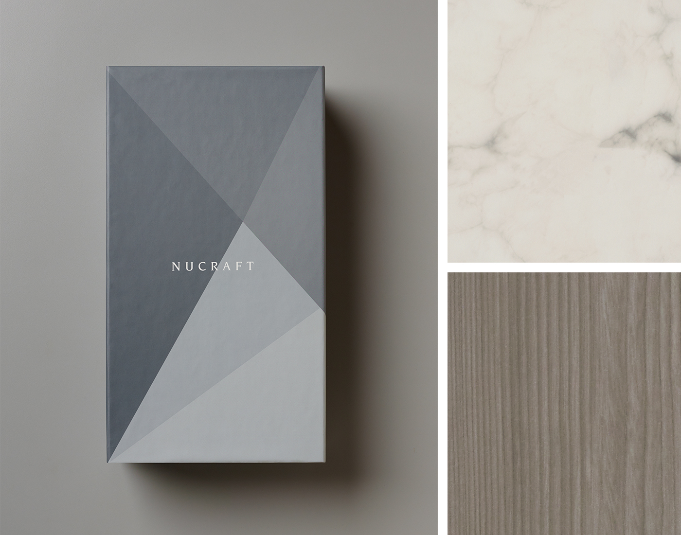 Nucraft Surface Materials Box with Veneer and Marble