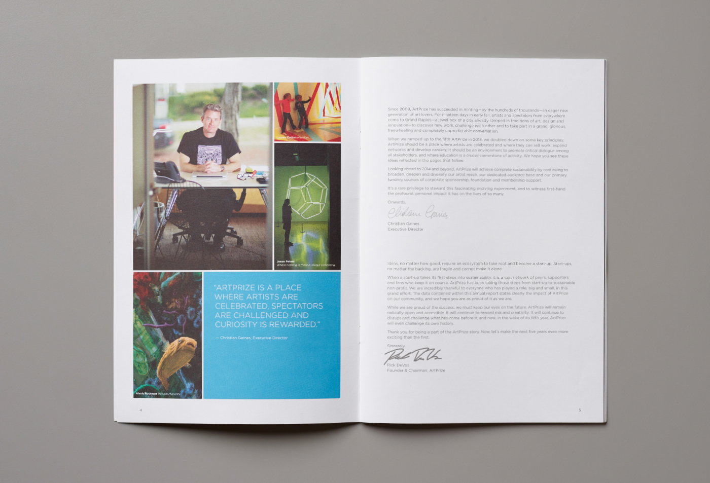 ArtPrize Annual Report Spread
