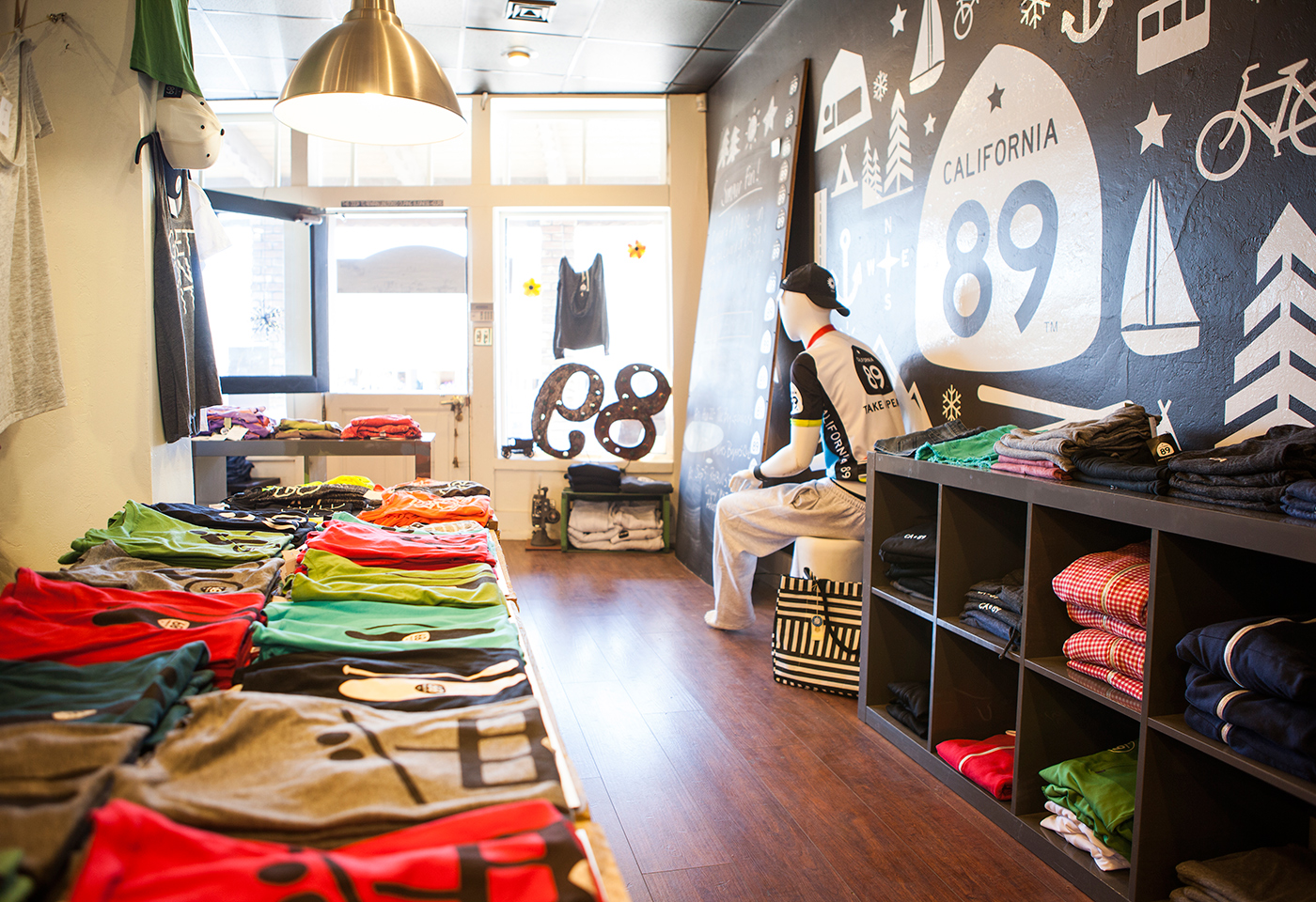 California 89 Interior with Apparel and Wall Graphic