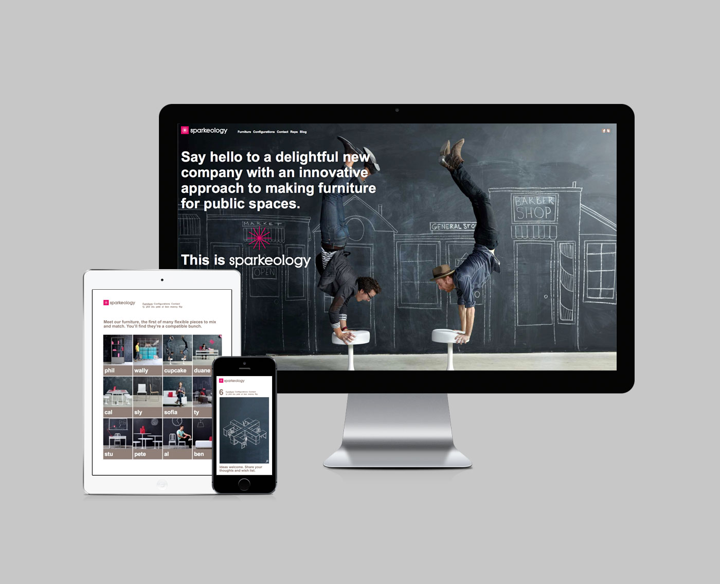 Sparkeology Website, iPad and iPhone Design