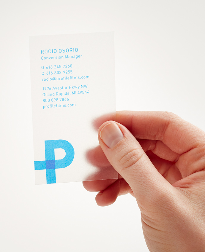 Hand holding Profile business card