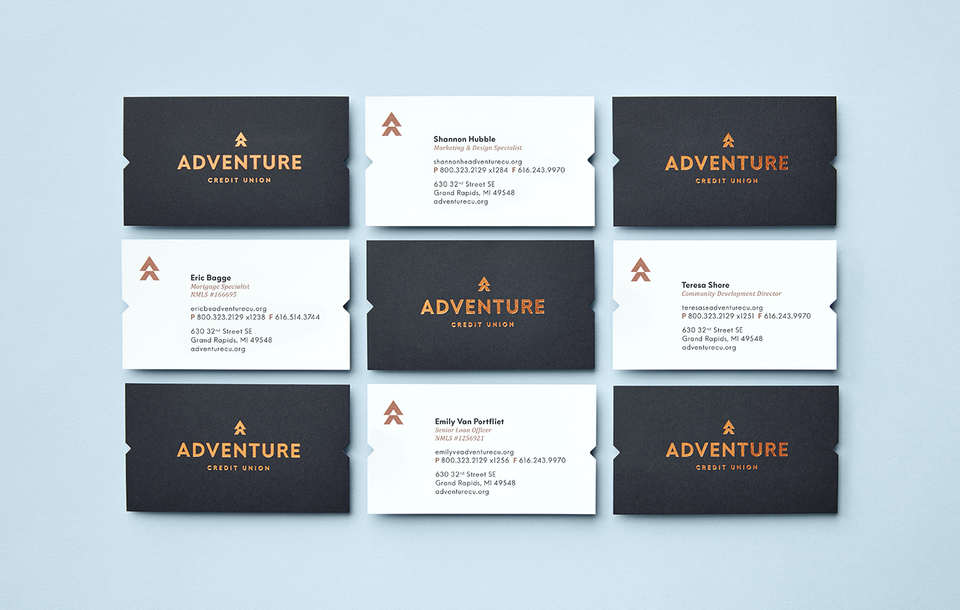 Adventure Credit Union business cards