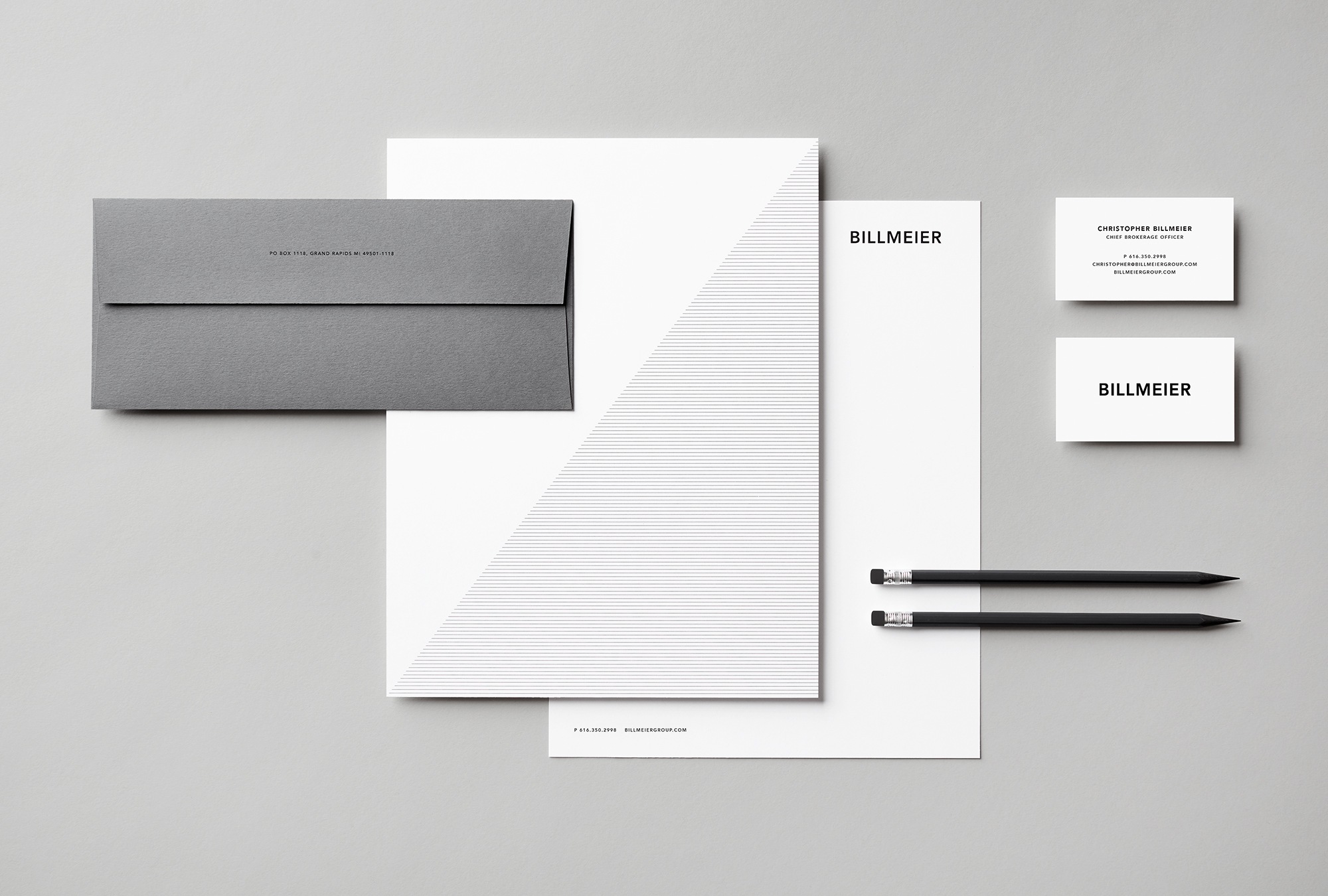 Billmeier Letterhead and Envelope