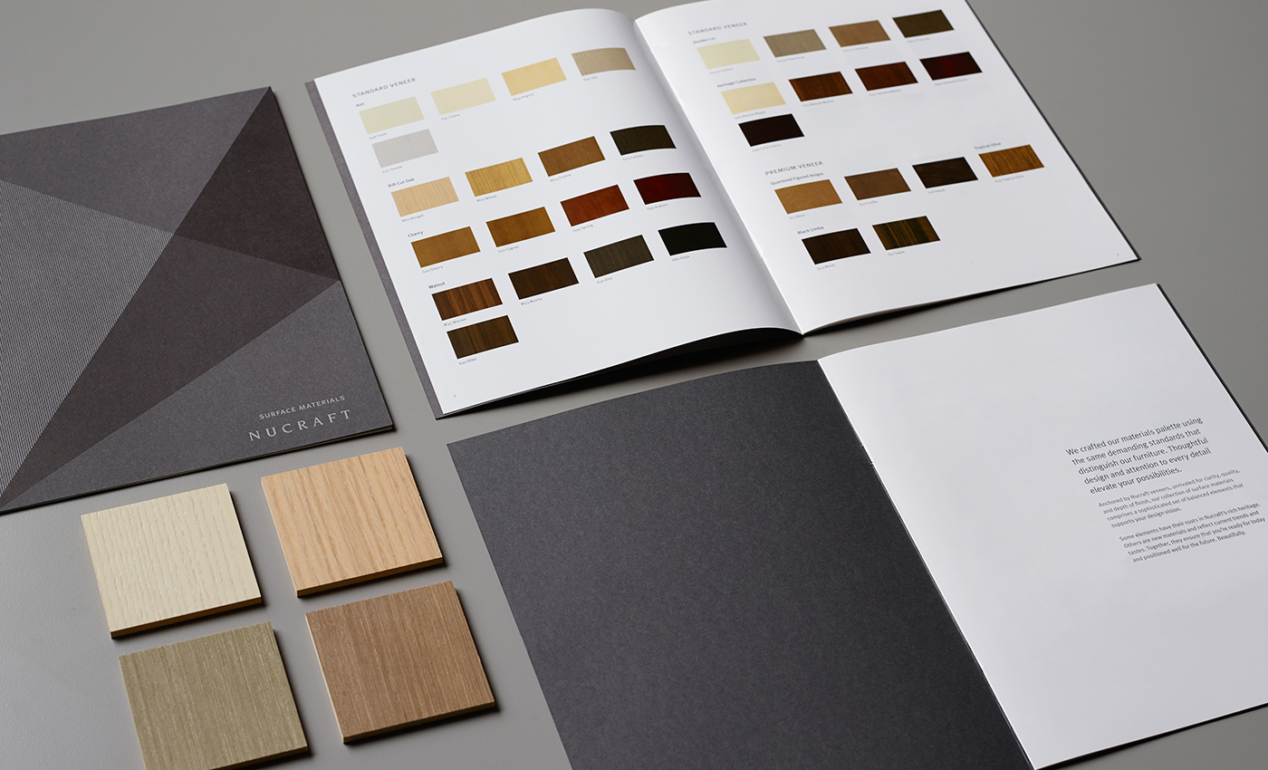 Nucraft Surface Materials Brochure with Veneer Samples
