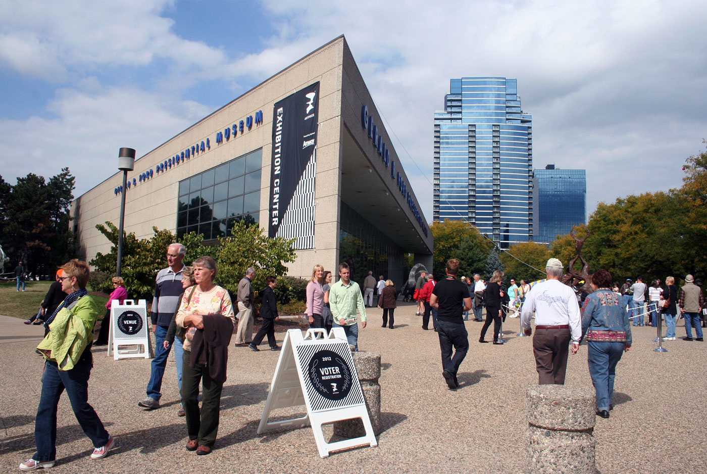 ArtPrize 2012 Exterior Signage Banner at Gerald R. Ford Museium