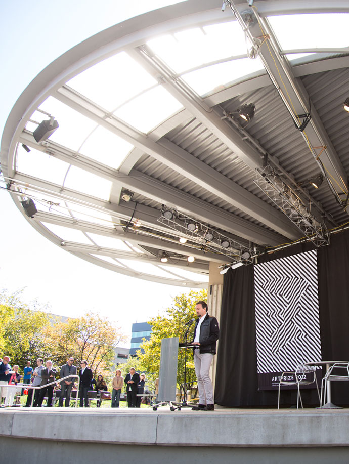 ArtPrize 2012 Top Ten Announcement, Rick DeVos on stage