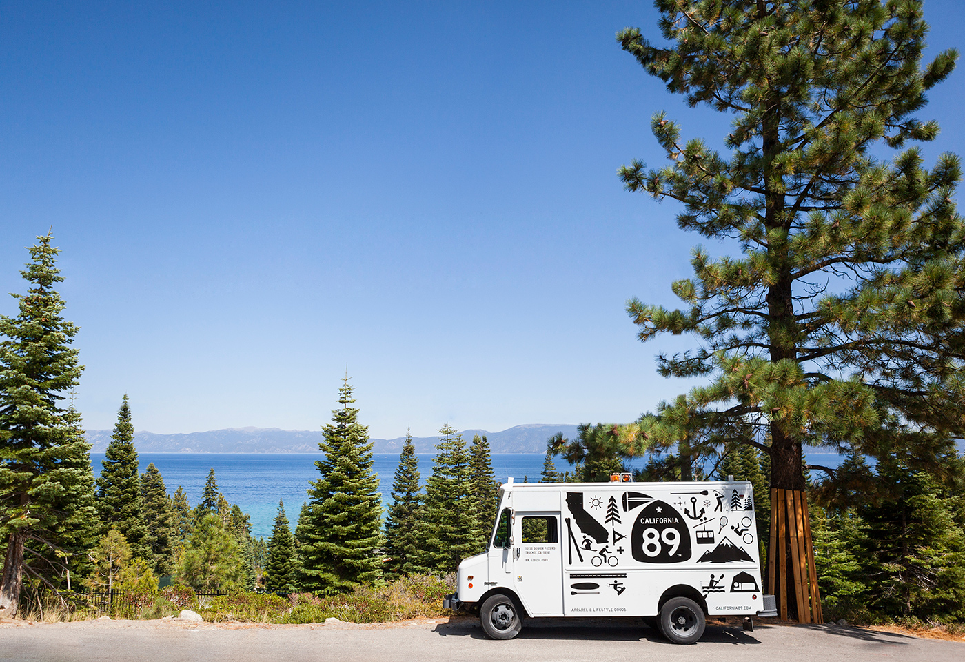 California 89 Truck on Scenic Overlook