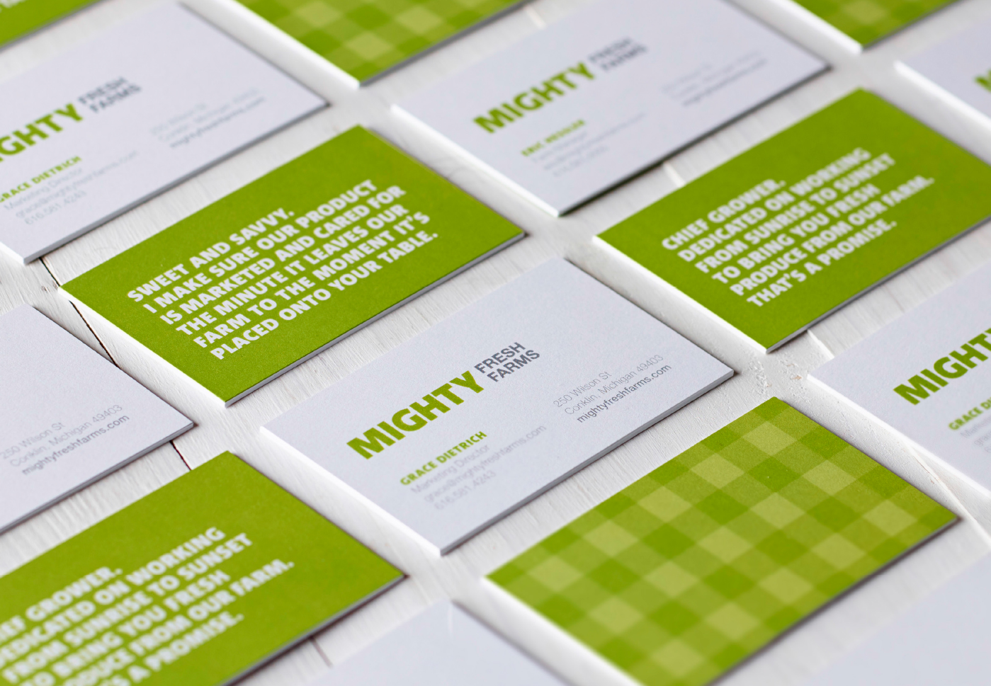 Mighty Fresh Farms Business Cards