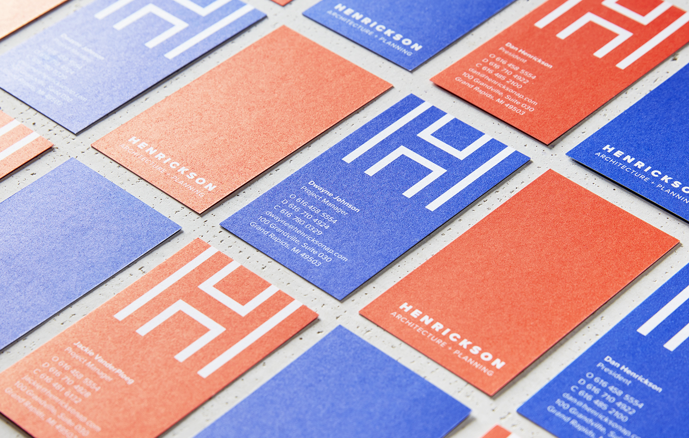 Henrickson Architecture business cards.