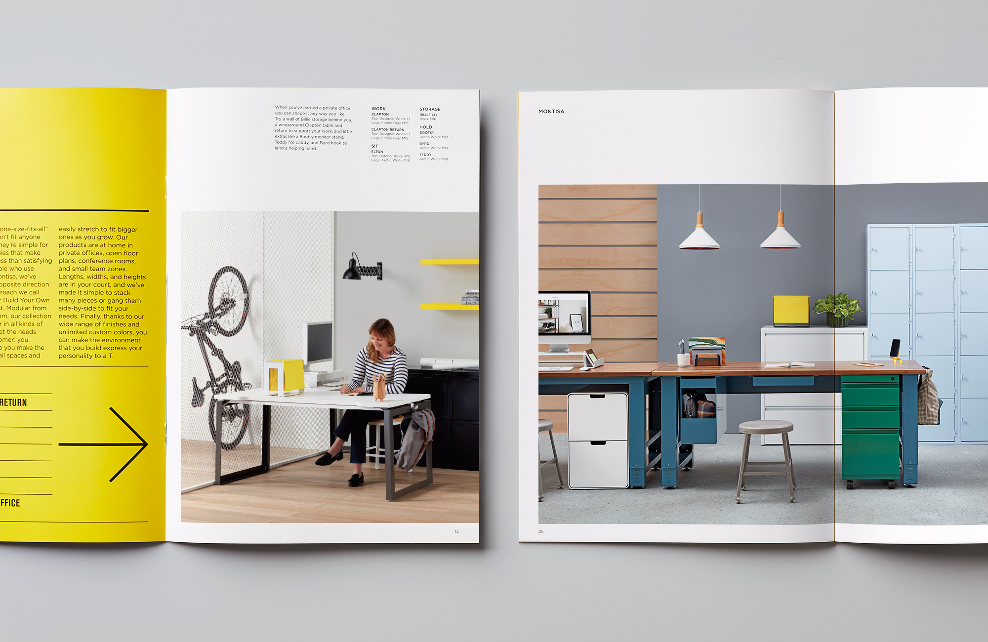 Two spreads of look book.