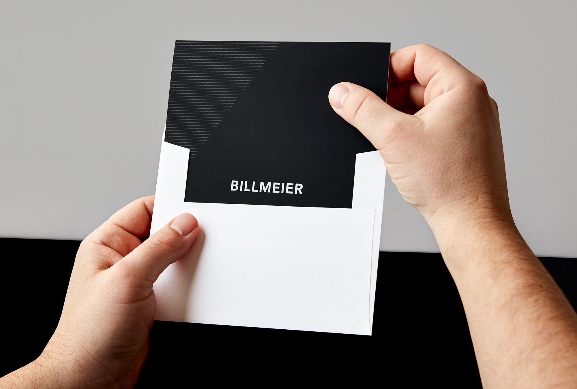 Billmeier Thank you Card and Envelope